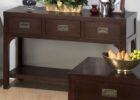 espresso cherry wood coffee table with drawers