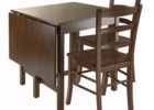 espresso drop leaf dining table for small spaces