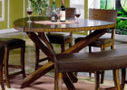 espresso triangle dining table with bench canada