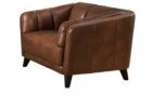 executive top grain leather office chair brown