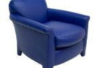 faux navy blue leather club chair slipcovers