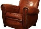 furniture vintage brown leather smoking chair