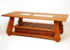 glass top cherry wood coffee tables for sale