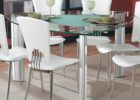 glass triangle dining table with bench