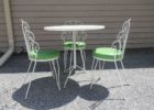 green dining table mid century patio furniture for sale
