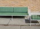 green sofa mid century patio furniture for sale