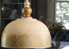 hammered metal pendant light decor
