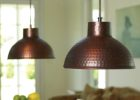 hammered metal pendant light set