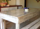how to oak white wash dining room table