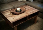 jack wood pallet coffee table for sale with storage