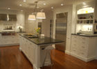 kitchen remodels with white cabinets modern black countertops