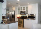 kitchen remodels with white cabinets modern stainless appliances pictures
