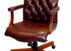 la z boy tufted top grain leather office chair brown