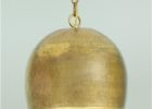 large gold hammered metal pendant light