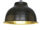 large hammered metal pendant light