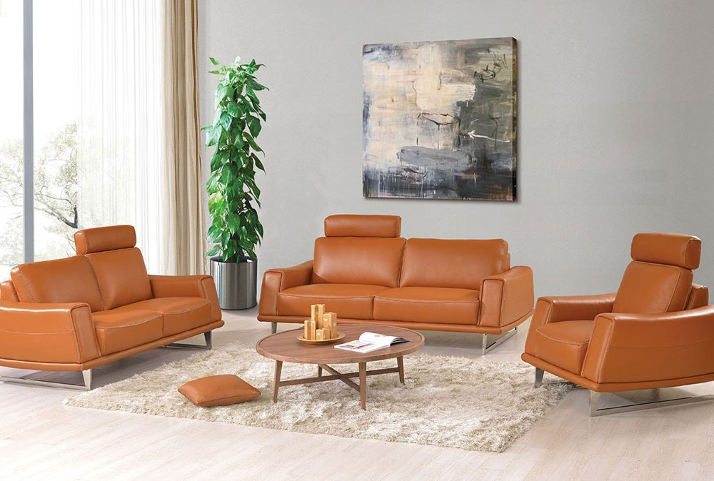 leather mid century modern furniture seattle