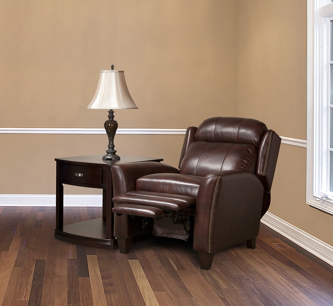 leather smoking chair set