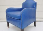 light blue leather club chair