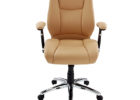 light brown realspace fosner high back bonded leather chair