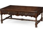 luxury distressed dark wood coffee table