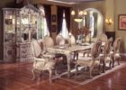 luxury white wash dining room table furniture set