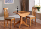 mahogany wood drop leaf dining table for small spaces uk