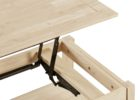 mechanical solid wood lift top coffee table