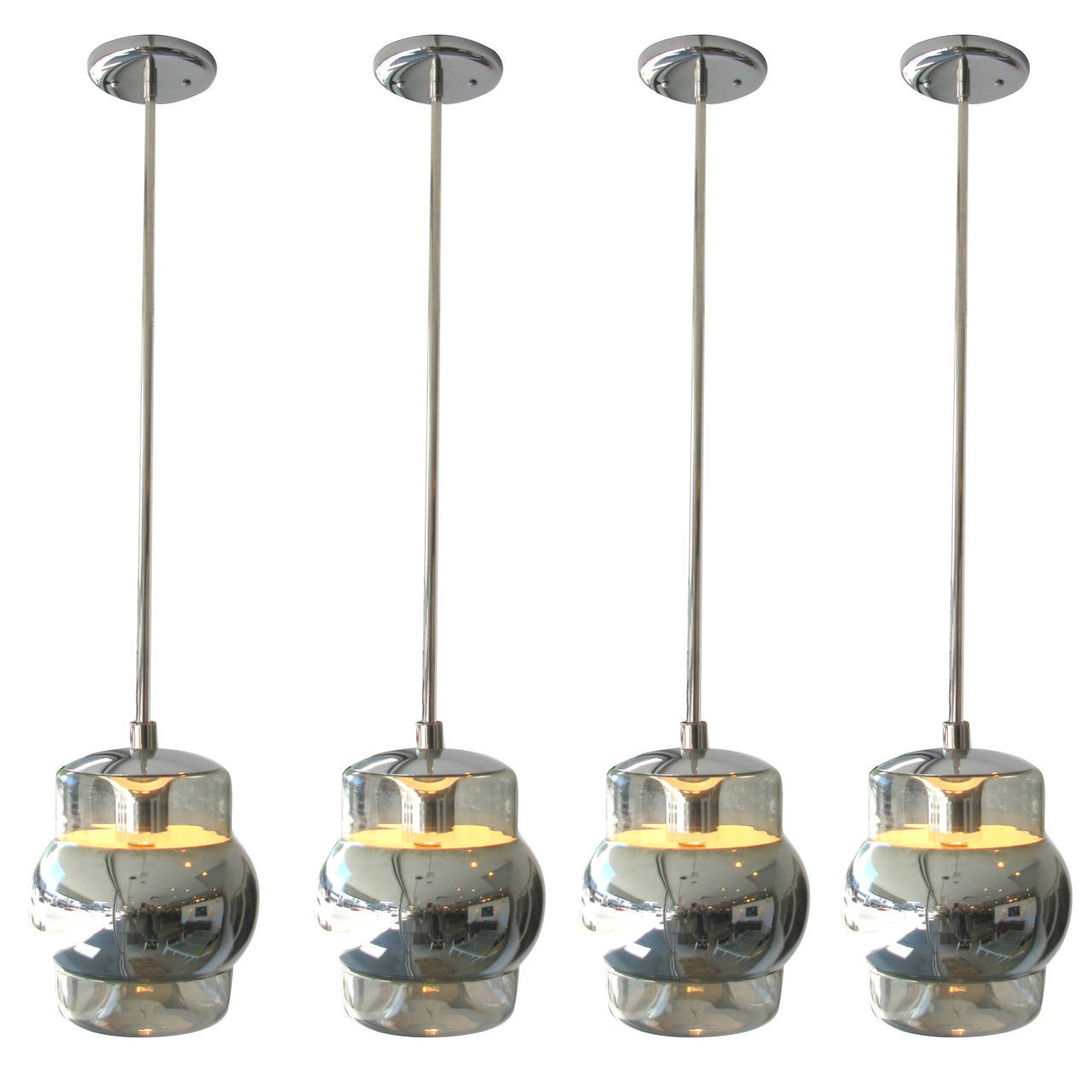 mercury glass pendant light fixture set