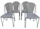 metal chairs mid century patio furniture for sale