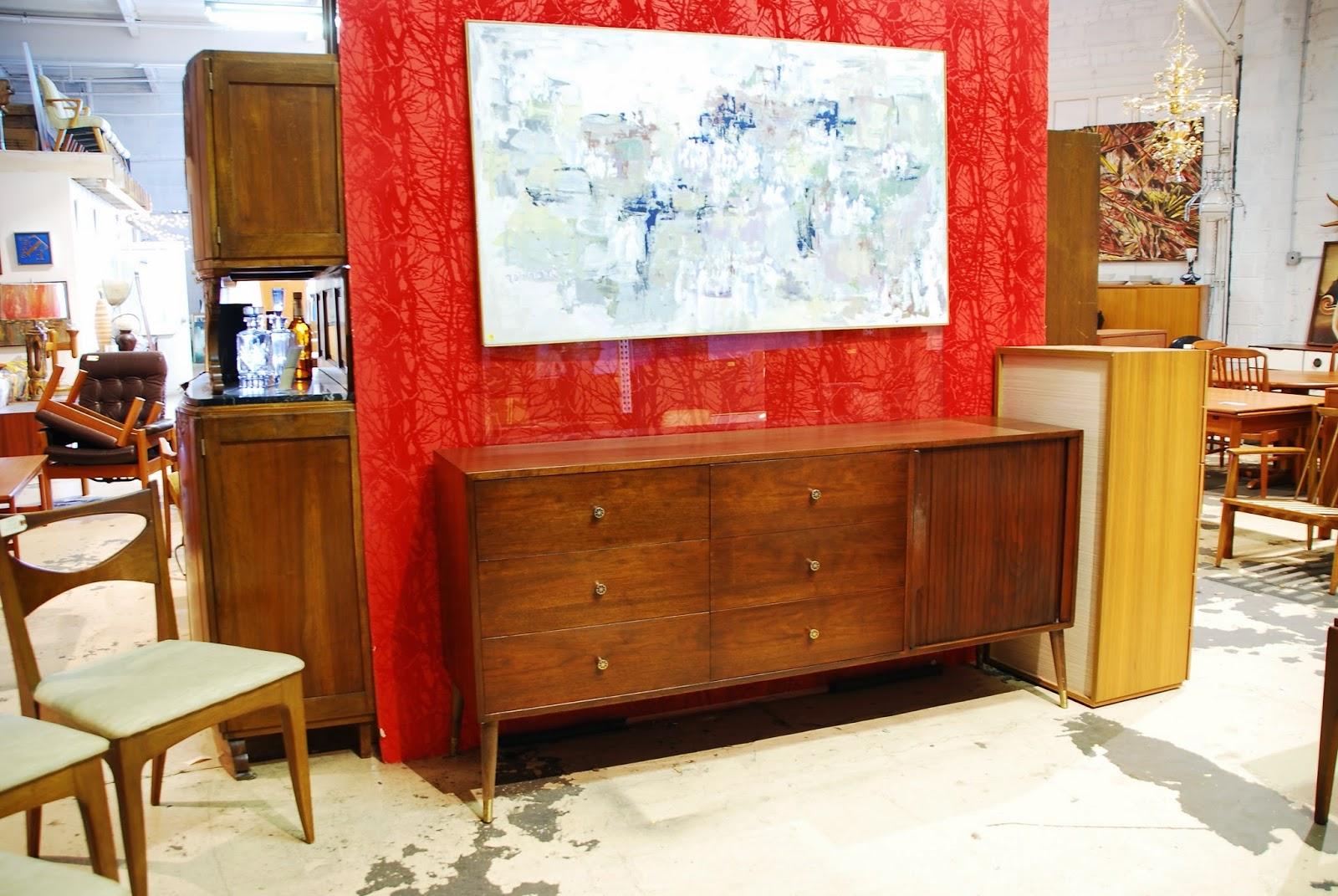 mid century furniture stores auction
