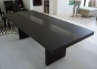 modern black extra long dining table seats 12