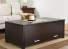 modern dark wood chest coffee table with drawers