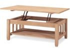modern oak solid wood lift top coffee table