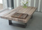 modern reclaimed white distressed wood coffee table
