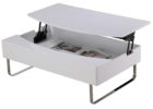modern white solid wood lift top coffee table