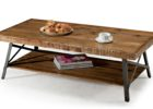 modern wrought iron coffee table with wood top