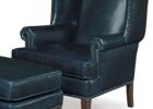 navy blue leather club chair