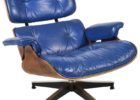 navy blue leather club chair recliner