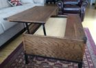oak solid wood lift top coffee table