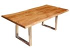 oak wood live edge dining table for sale