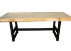 oak wood live edge dining table for sale canada