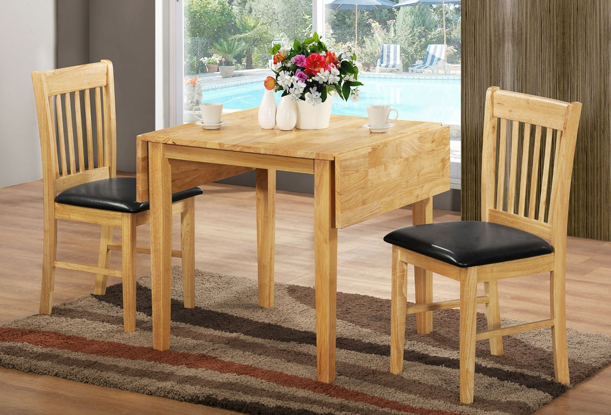 oak wood narrow dining tables with leaves