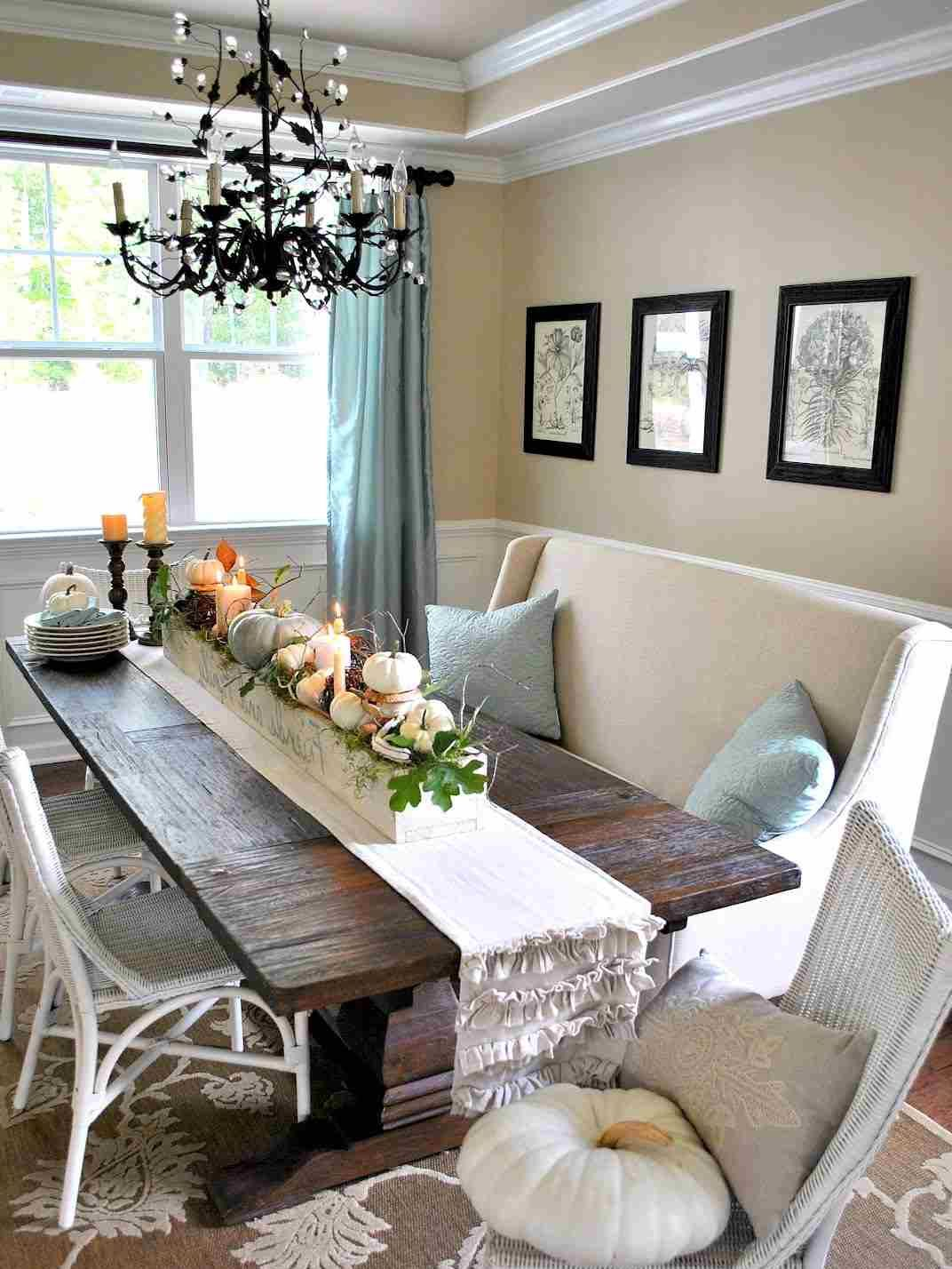 Rustic Dining Table Centerpieces Decorating Ideas
