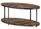 oval barn wood coffee table for sale