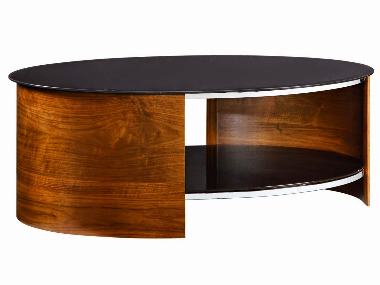 oval black top cherry wood coffee tables for sale