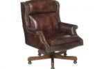 premium top grain leather office chair brown