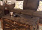 reclaimed pallet dark wood chest coffee table