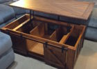 reclaimed solid wood lift top coffee table