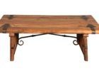 reclimed pallet wrought iron coffee table with wood top