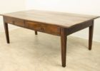 rectangular cherry wood coffee table with drawers
